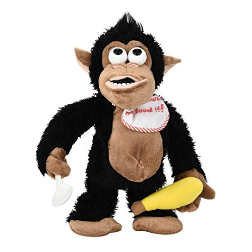 4' Plush Bear Keychain - Don't Touch My Banana! E-SCENERY Plush Crying Monkey Electronic Stuffed Toy For Kids & Adults