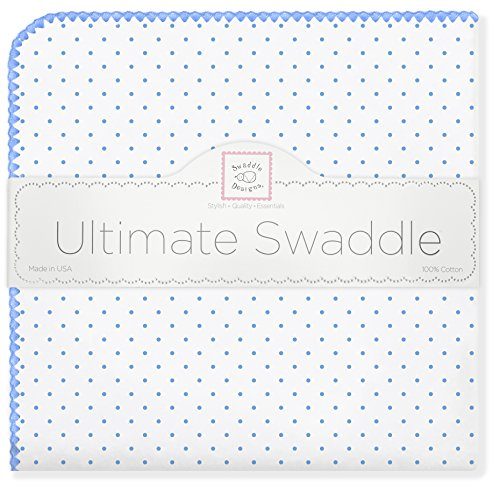 SwaddleDesigns Ultimate Receiving Blanket, Polka Dots