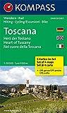 Toscana - Herz der Toskana - Heart of Tuscany - Nel cuore della Toscana: Wanderkarten-Set mit Radrouten. GPS-genau. 1:50000 (KOMPASS-Wanderkarten, Band 2440)