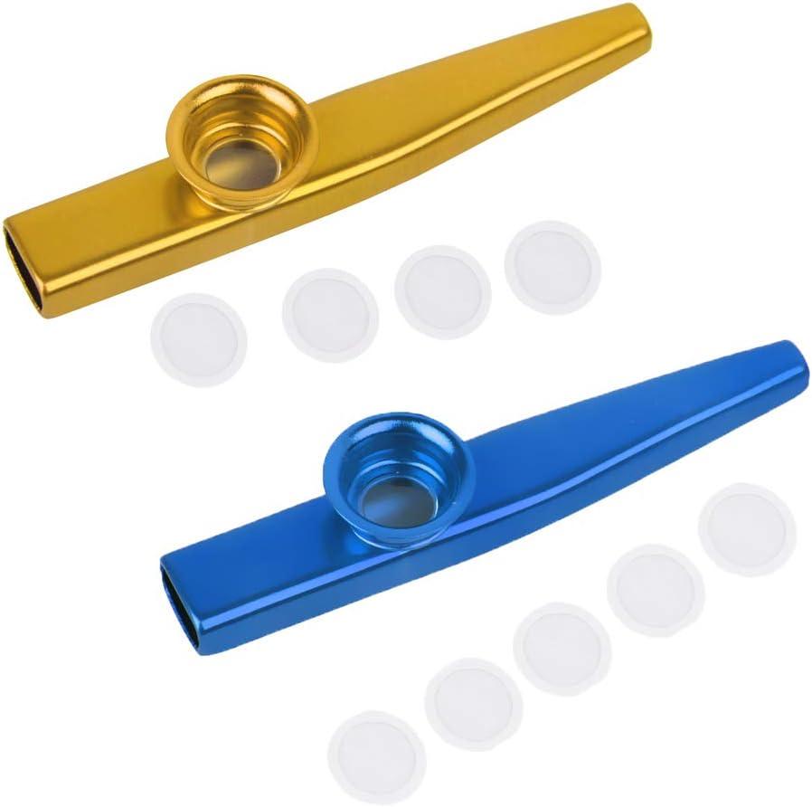 KAZOO 격막을 가진 2 개의 알루미늄 합금 KAZOO 소형 입 플루트의 SIMHOA 팩