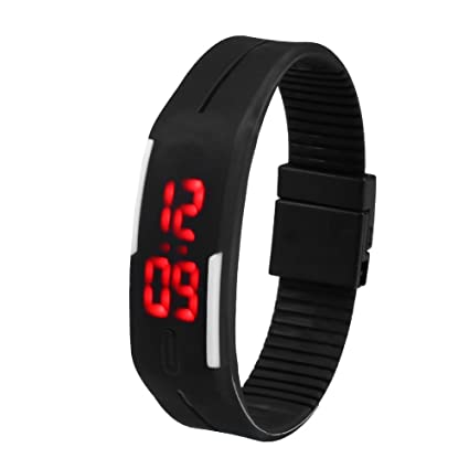 Beautyrain 1 PC Touch LED Reloj electrónico digital Pulsera digital inteligente