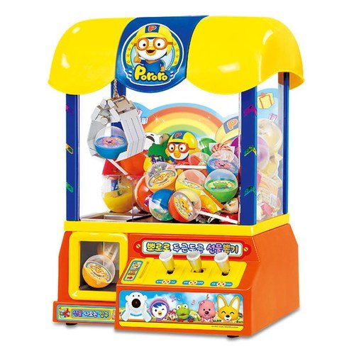 Pororo Claw Candy Toy Grabber Crane Machine with Pororo vioce Sound and Songs by The Little Penguin Pororo