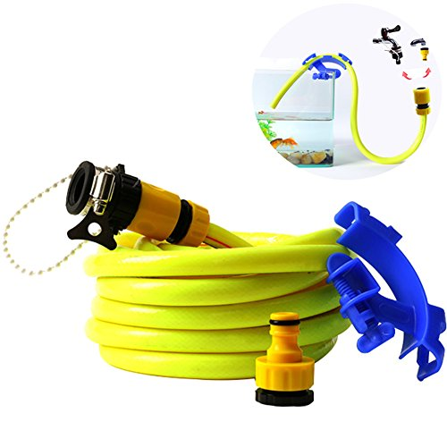 49.2 Feet Tube Hose No Spill Fill Aquarium Maintenance System with Tube Clip and Faucet Connectors by Creation Core