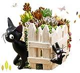 HEYFAIR Cute Cartoon Totoro Cactus Succulent Planter Pot Container Gardens (C)