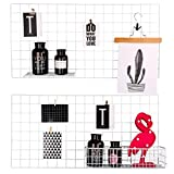 Kufox Painted Wire Wall Grid Panel, Multifunction Photo Hanging Display and Wall Storage Organizer, Pack of 2, Size 15.7''x 31.5'', White