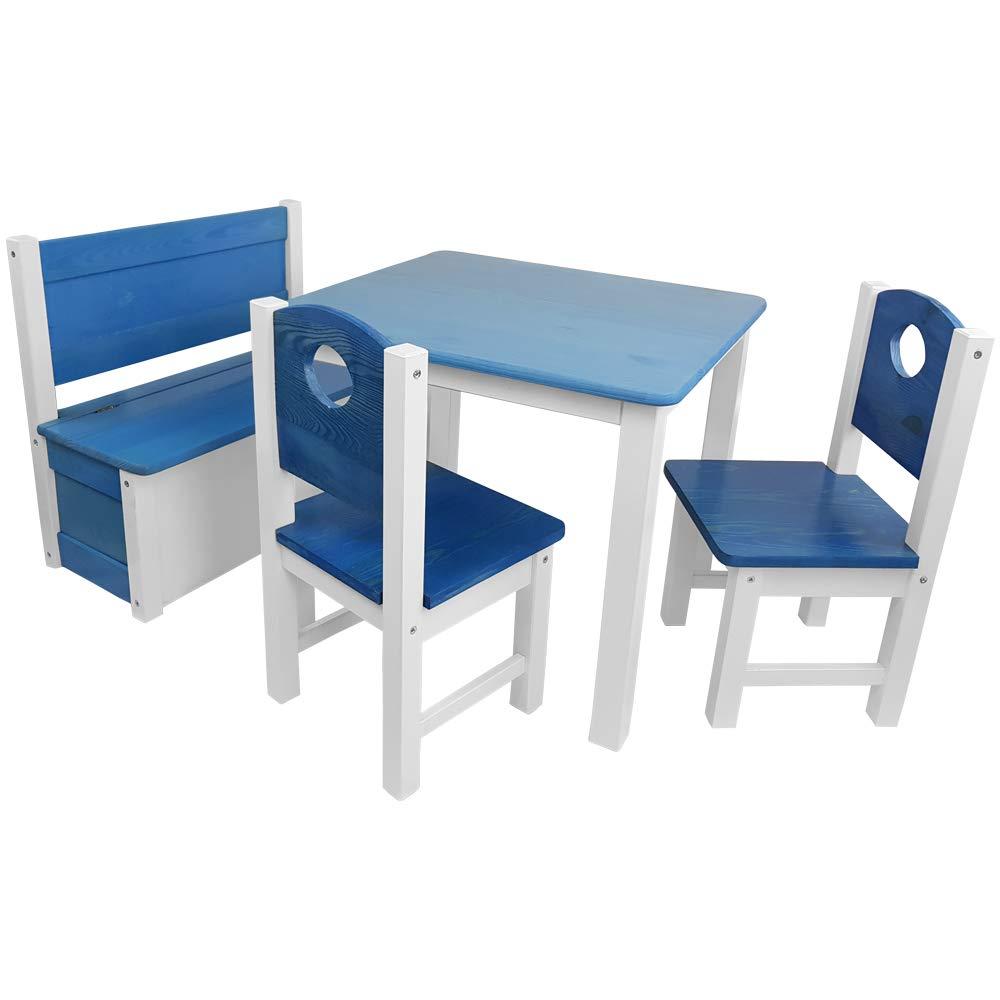 Kinder Sitzgruppe Kinderzimmer Set 1 Tisch 2 Stuhle Und