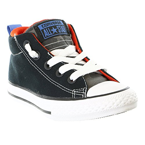 Converse Kids Chuck Taylor All Star High Street Hola (niño Pequeño / Big Kid) Black Red Thunder