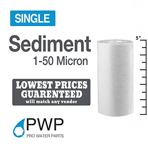 PWP Sediment Water Filter RO/DI Biodiesel WVO/SVO Whole House 5x2.5in 5 micron 1pc