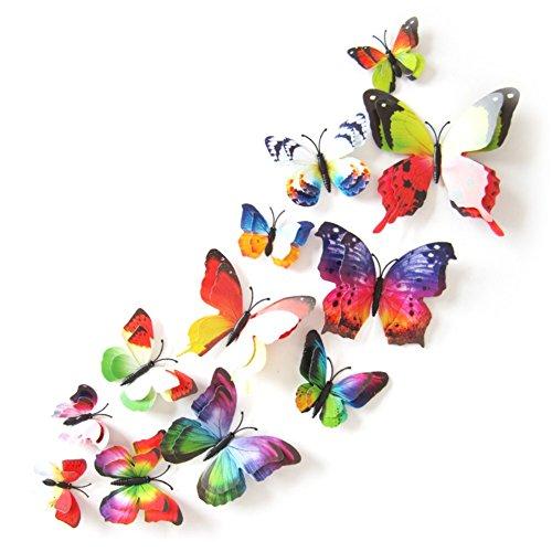 12PCS 3D PVC Magnet Butterflies DIY Wall Sticker Home Decoration - 1