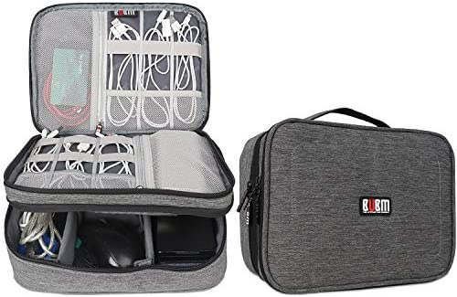 """BUBM Electronic Organizer, Double Layer Travel Accessories Storage Bag for Cord, Adapter, Battery, Camera and More-a Sleeve Pouch for iPad or up to 9.7"""" Tablet(Large, Denim Gray) - 10155595 , B01N0GZ3MM , 285_B01N0GZ3MM , 824592 , BUBM-Electronic-Organizer-Double-Layer-Travel-Accessories-Storage-Bag-for-Cord-Adapter-Battery-Camera-and-More-a-Sleeve-Pouch-for-iPad-or-up-to-9.7-TabletLarge-Denim-Gray-285_B01N0GZ3MM , fado.vn , BU"""