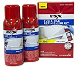 clawfoot tub refinishing Magic Tub and Tile Refinishing Kit - [Bright White] Spray On Aerosol - Refinish Sinks Tile Porcelain Acrylic Fiberglass and Ceramic Surfaces