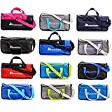 sports bag gym bag holdall men women duffel shoulder fitness bag swimming pool bag travel holiday strap sport bag cabin luggage overnight camping kit bag small 20L large 40L (20 L, Red/Black)