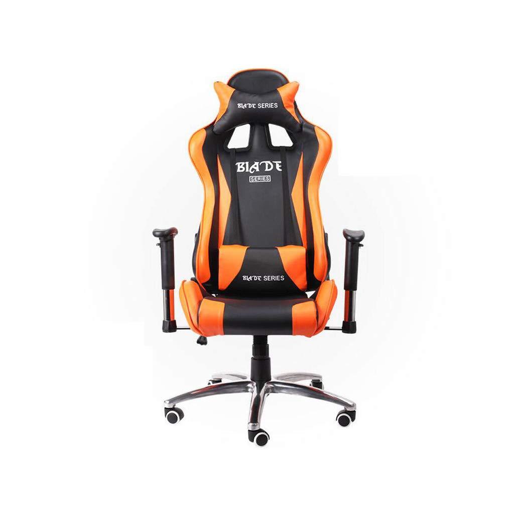 XUERUI 快適 Eスポーツゲームチェアレーシングシートオフィスチェアリフトスイベルチェア多機能手すり 耐久性のある (色 : Orange) B07LGTWDDT Orange