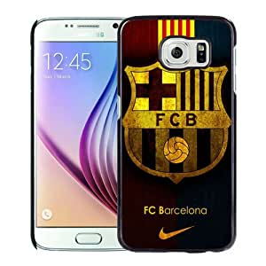 Fashion And Unique Samsung Galaxy S6 Case Designed With Fc Barcelona Black Samsung S6 Cover