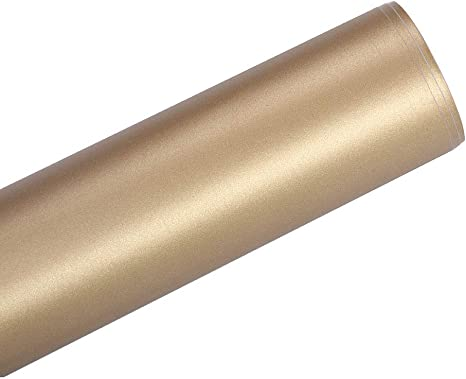 HOHOFILM rollos de vinilo adhesivo dorado mate de 12 x 48 pulgadas ...