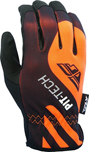 (Fly Racing Unisex-Adult Pit Tech Lite Gloves Flo-Orange/Black Large )