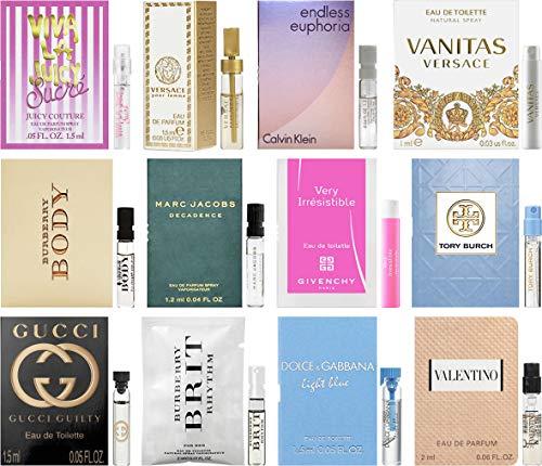 Sampler Lot of Designer Fragrance Samples for Women (Designer Perfumes For Women)