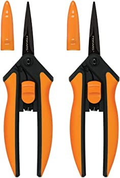 2-Pack Fiskars Micro-Tip Pruning Snips Non-Stick Blades Pack