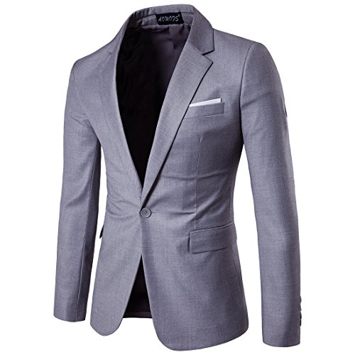 Cloudstyle Men's Suit Jacket One Button Slim Fit Sport Coat Business Daily Blazer