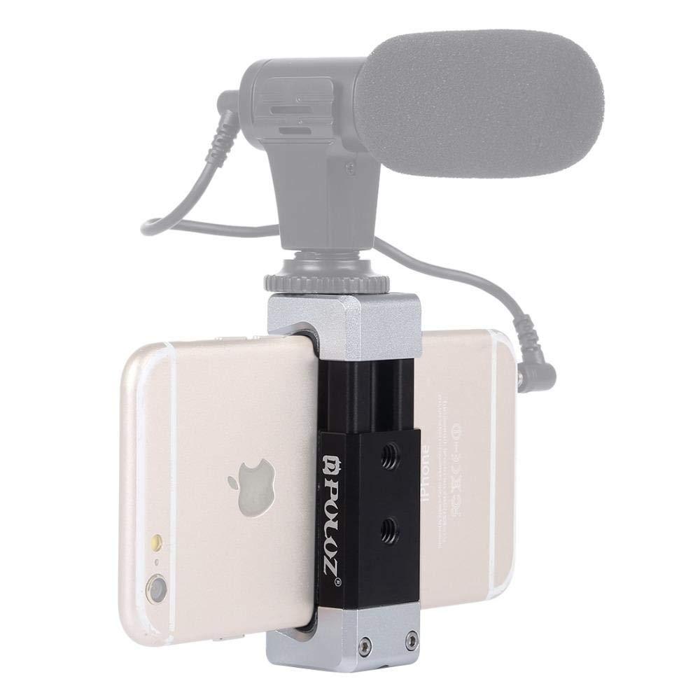 Puluz PU370 Universal Aluminum Alloy Cold Shoe Photography Phone Holder Clamp Bracket Aluck 57219826790