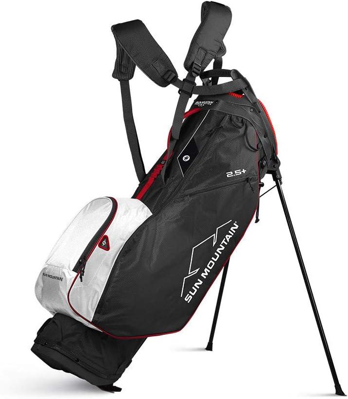 Sun Mountain 2020 2.5+ Stand Bag | Black/White/Red