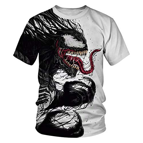 Tsyllyp Womens Mens Fashion T-Shirt Venom Costume Pullover Tops Tee Shirts]()