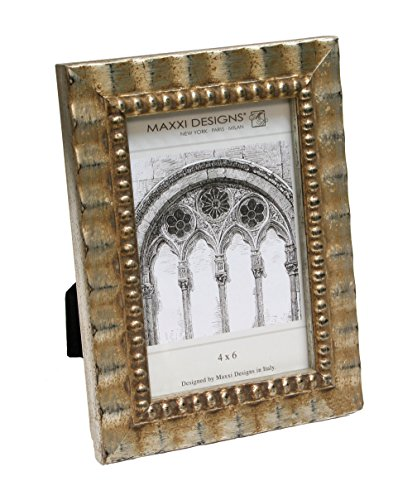 Maxxi Designs Arezzo Antique Silver frame with Beads, 8