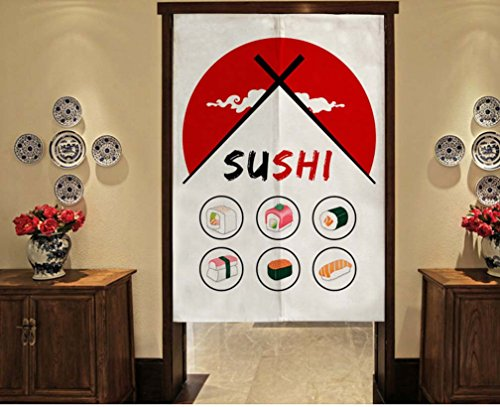 Delicate Door Curtain Japanese Restaurant Kitchen Curtain Hotel Sushi Bar Decoration, #01