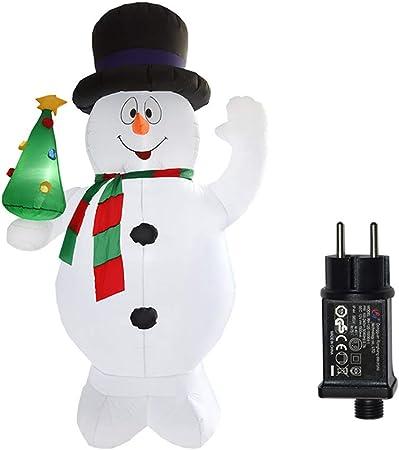 BXWQPP Inflable de Navidad 240cm Alta Yeti con LED para la Decoración del Jardín Casero Navidad Fiesta Césped Bar Interior Exterior Decoracion Prop