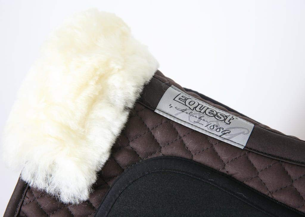 Equest Grip Saddle Pad Brown Formally Barnsby Dressage Pad//Numnah with lambskin wither