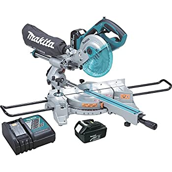 makita xsl01 lxt lithium ion cordless dual slide compound miter saw kit 7 1 2 inch. Black Bedroom Furniture Sets. Home Design Ideas