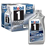 Mobil 1 5W-30 High Mileage Advanced Full Synthetic Motor Oil - 6 Pk 1 qt. bottles (pack of 6)