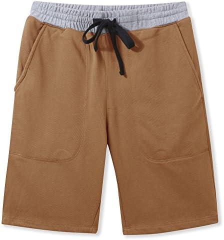 El Sr. Zhang de los hombres Casual algodón elástico Gimnasio Pantalones Cortos
