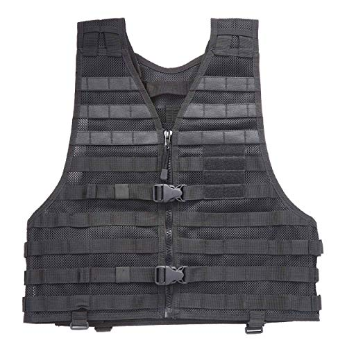 Nylon Vest 5.11 Tactical (5.11 LBE Tactical Vest with MOLLE for Paintball Airsoft Hiking Hunting, Style 58631, Black, 4X-Large)