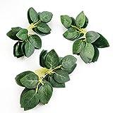 Floroom Artificial Green Leaves 35pcs Bulk Silk