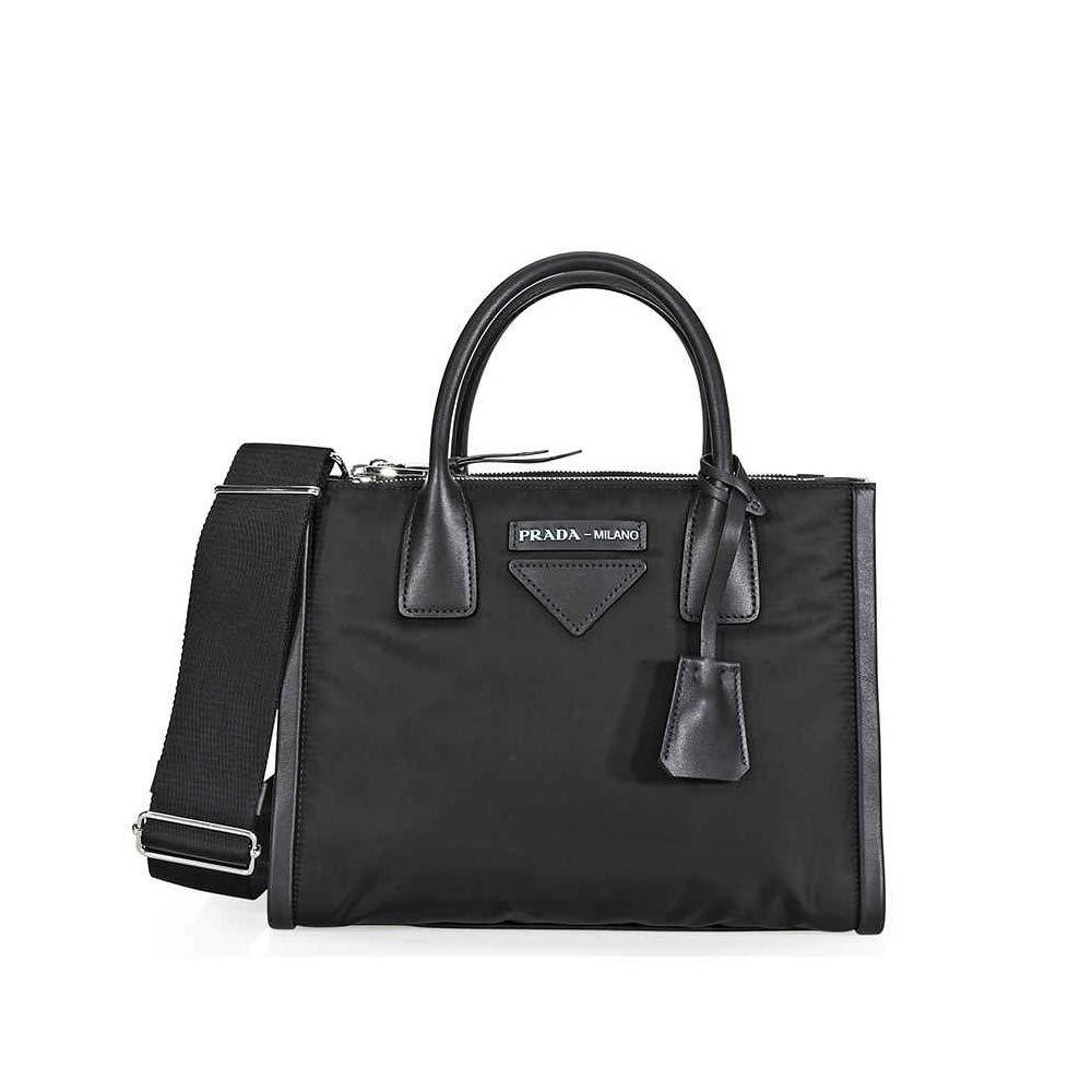 48af2e7abc5d Prada Concept Medium Fabric/Leather Crossbody - Black: Handbags: Amazon.com