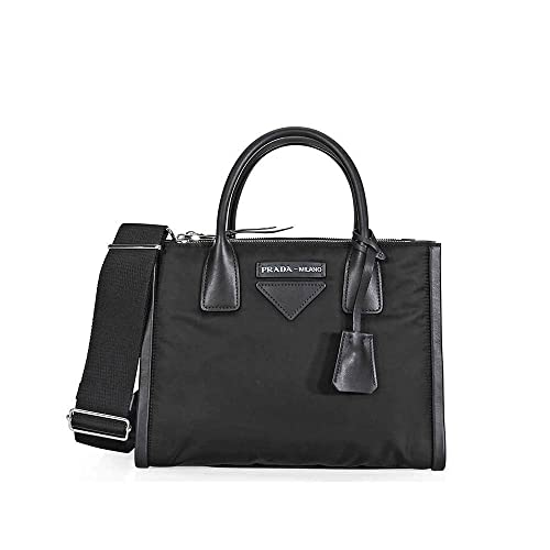 0ca4fb420a7d Image Unavailable. Image not available for. Color  Prada Concept Medium  Fabric Leather Crossbody - Black