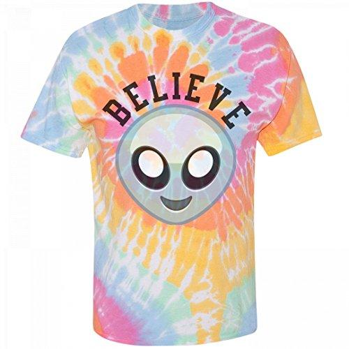 Believe Grunge Alien: Unisex Gildan Tie-Dye Spiral T-Shirt