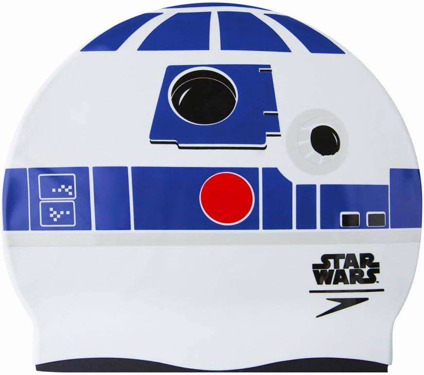 Speedo Star Wars Gorra, Infantil, Blanco y Azul, Talla única