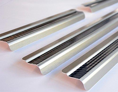 WGS Einstiegsleisten Einschtiegschutz Lackschutzleisten mit Abkantung Carbon auf AluNox/® 2039-704