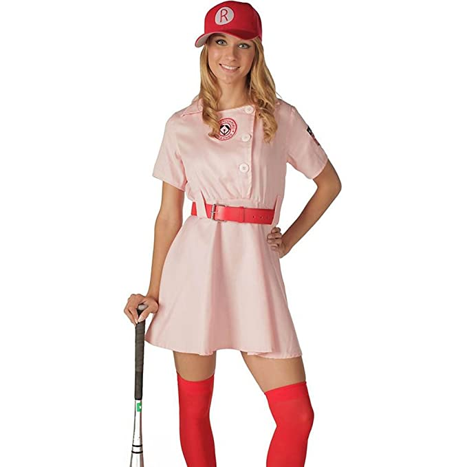 1940s Costumes- WW2, Nurse, Pinup, Rosie the Riveter  A League of Their Own Rockford Peaches AAGPBL Baseball Dress  AT vintagedancer.com