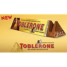TOBLERONE CRISPY COCONUT, GIANT LIMITED EDITION, 4 pieces with each 360 Grams, Switzerland, total 1.4 KILOGRAMS