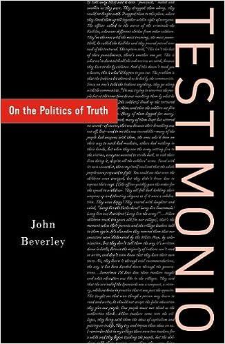 On The Politics Of Truth Testimonio
