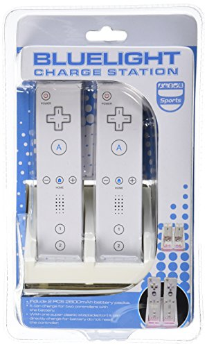 Gen Premium Dual Charging Station with LED Light Plus 2 High Capacity Rechargeable Replacement Battery and USB Cable For Nintendo Wii Remote Control - coolthings.us