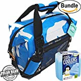 Polar Bear Coolers H2O Waterproof Cooler (Size 12 Pack) Ice Blue & Fit & Fresh Cool Coolers Slim Ice 4-Pack (Bundle)