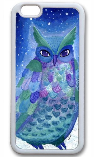 Cute owl animal cartoon Easter Thanksgiving Masterpiece Limited Design tpu white Case for iphone 6 by Cases & Mousepads