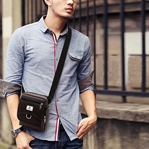 Lerben moda Hombre Retro Mini Cruz Cuerpo Bolsa de hombro bolso bandolera Casual bolso bandolera, hombre, marrón, talla única negro