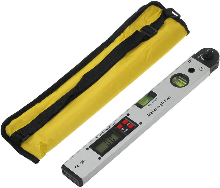 Angle Ruler Tool with LCD Display Backlight Vertical Horizontal Dual Spirit Level for Construction Carpenter Craftsman Renovation Home Professional 0~225/° Digital Angle Finder Protractor Ruler