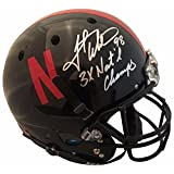 Grant Wistrom Autographed Nebraska Signed Black Football Full Size Helmet 3 X CHAMPS