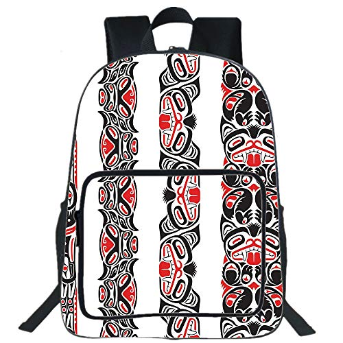 """Primitive 16"""" School Backpack, Waterproof Laptop Bookbag,Haida for sale  Delivered anywhere in USA"""